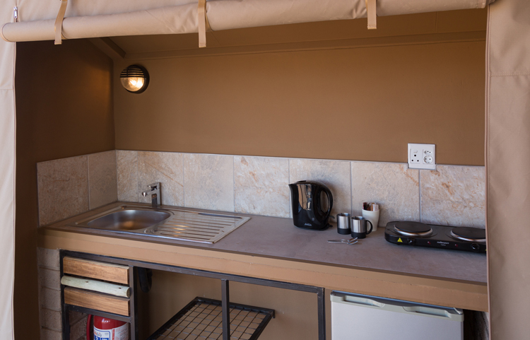 Desert Camp Unit kitchenette
